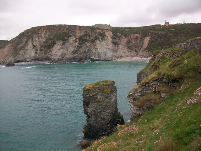 A Moon Rocky sort of place - Trevaunance Cove in Cornwall (image: geograph.org.uk)