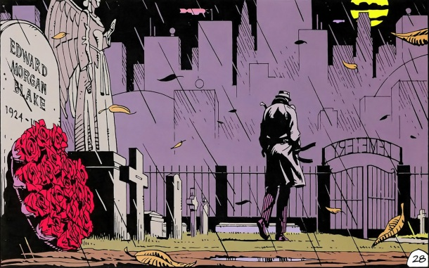 Rorschach is the paranoid vigilante living in squalor who first smells a rat in the death of the Comedian.
