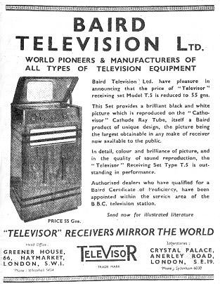 Baird_TV_ad_1937