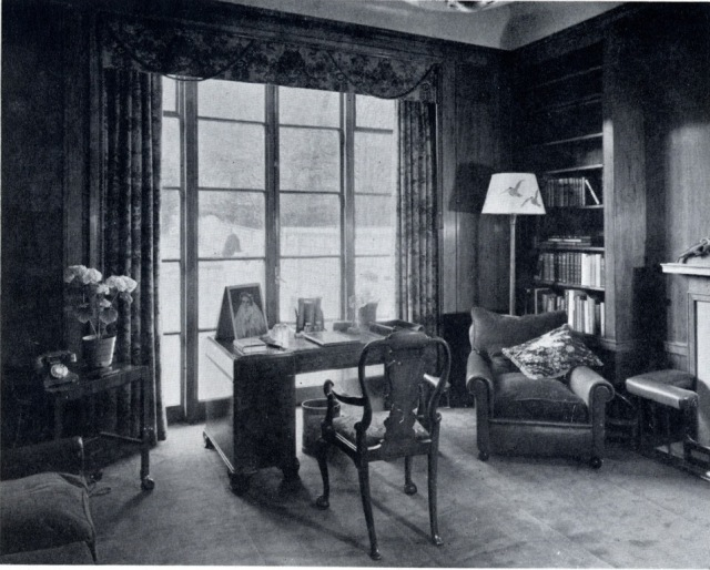 An up-to-date 1937 library, waiting for its body, from The Library Time Machine blog.